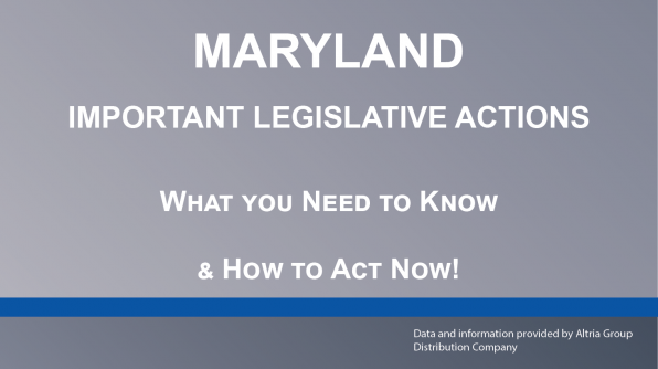 Important Legislative Actions In Maryland