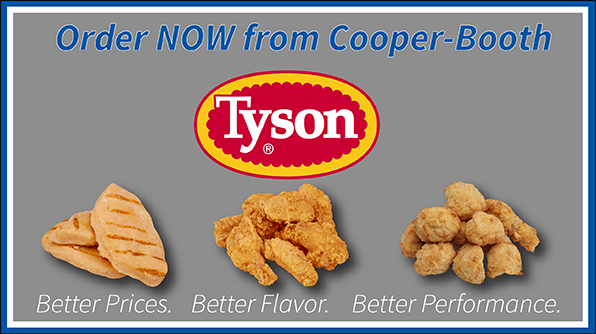 Tyson Chicken Available Now!