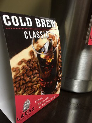 cold brew coffee available at a convenience store