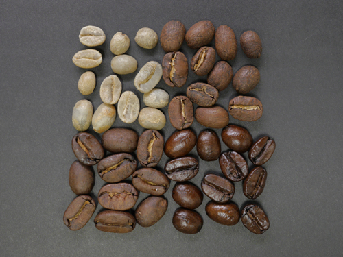 coffee beans, light roast, medium roast and dark roast