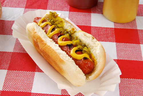 hot dog summer picnic food